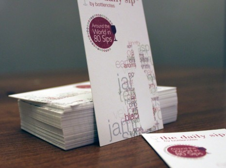 Double-thick business card