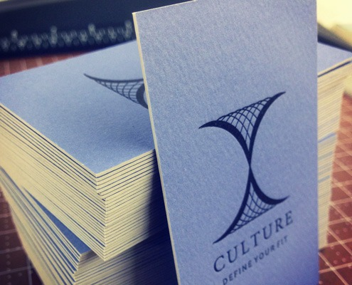 Culture: Letterpress and Offset Ultra-Thick Business Card