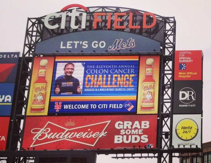 Colon Cancer Challenge Jumbotron graphics
