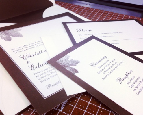 Christina and Edward Wedding Invitations
