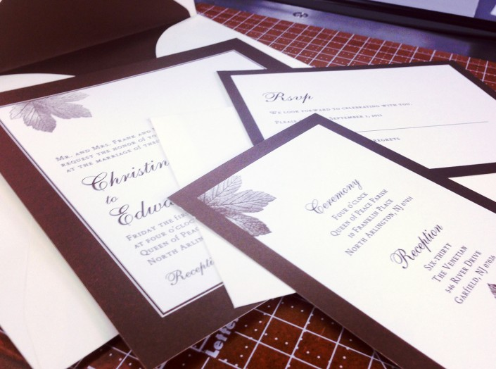 Christina and Edward Wedding Invitations