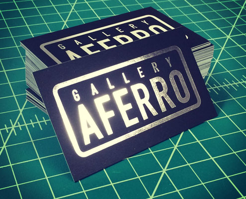 Gallery Aferro Ultra-Thick Silver Foil Business Cards
