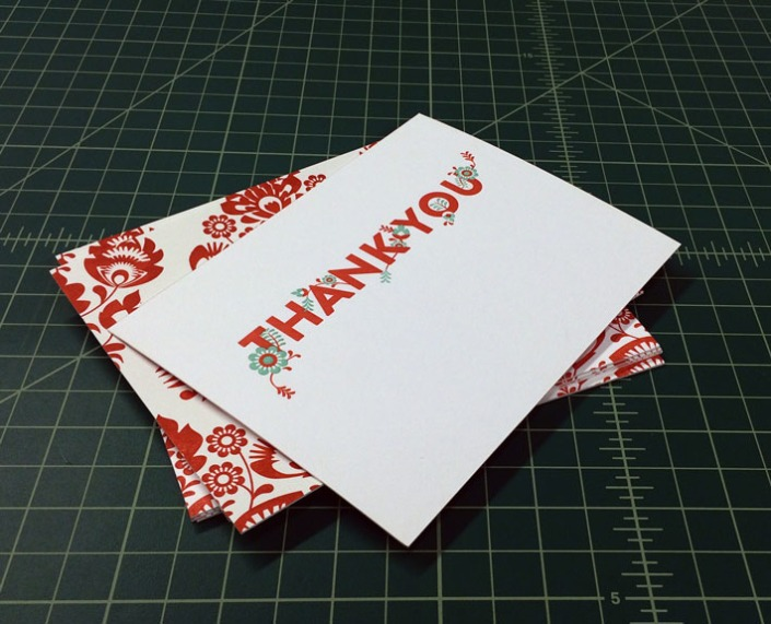 Remco Press Letterpressed Thank You Notecards