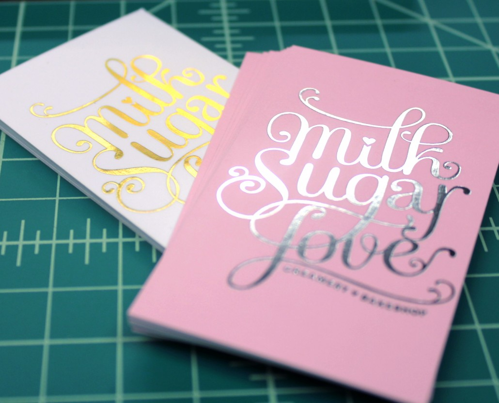 Milk Sugar Love Silver And Gold Foil Ultra Thick Business Cards