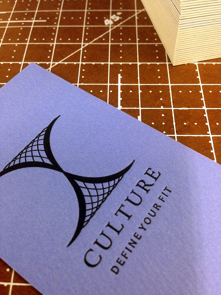Culture | Ultra Thick Letterpress Business Cards