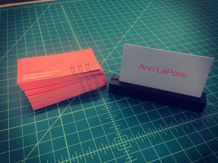 Ann LePore ultra-thick business card