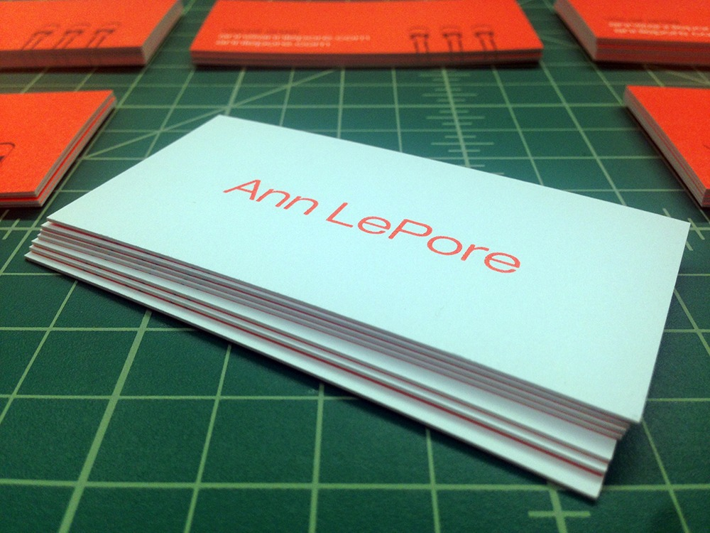 Ultra thick business cards for ann lepore remco press ann lepore 26pt ultra thick business cards reheart Gallery