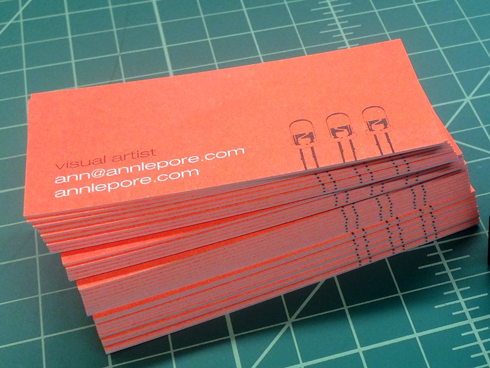 Ultra thick business cards for ann lepore remco press ann lepore ultra thick business card colourmoves Images