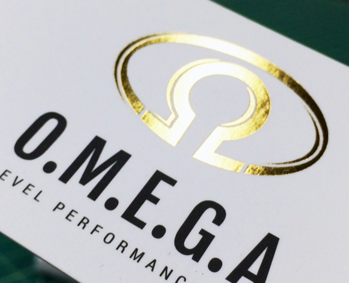 OMEGA Level Performance: Gold Foil Business Cards