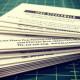 Black Maria Film Festival: 32pt Letterpress Business Cards
