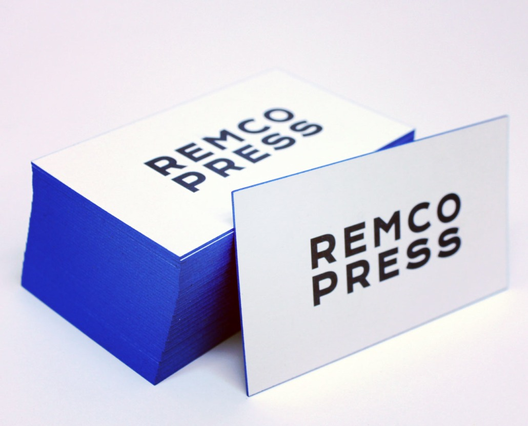 Edge painted business cards north bergen nj remco press 32pt blue edge painted business cards reheart Choice Image