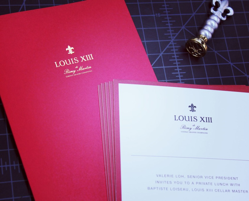 Louis XIII: Foil Stamped Invitation