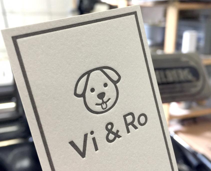 Vi & Ro: 120lb Letterpress Business Card