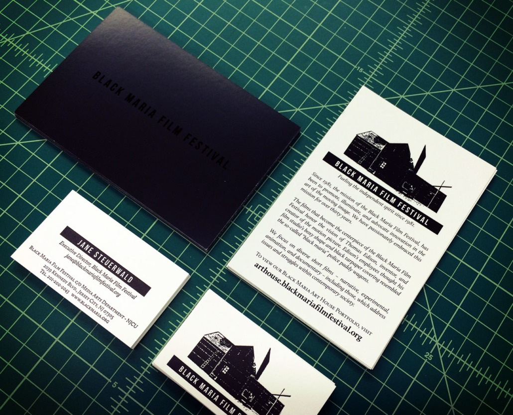 Black maria film festival letterpress business cards and spot uv black maria film festival letterpress business cards and spot uv postcards reheart