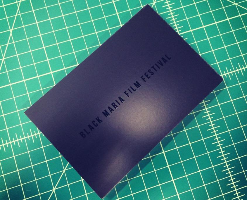 Black Maria: 16pt Postcard with Spot UV