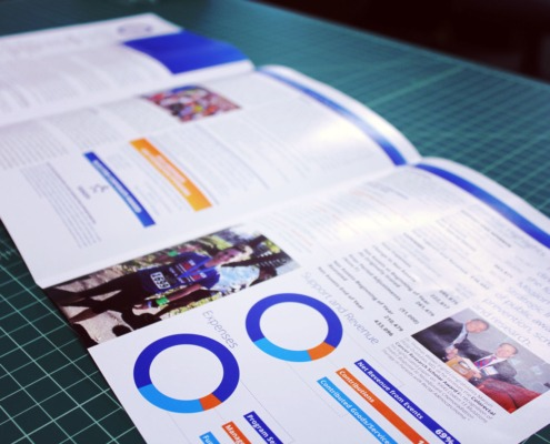 Colon Cancer Foundation: Annual Report Brochures with Tri-Fold