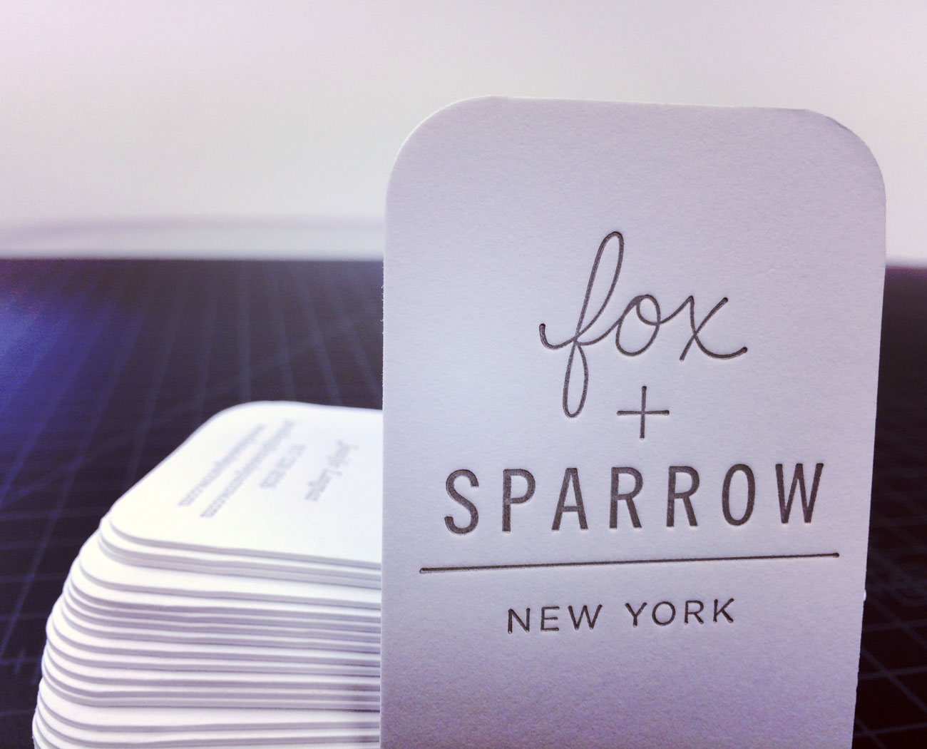 Fox and sparrow letterpress rounded corner business cards remco fox sparrow 184lb letterpress round corner business cards reheart Image collections