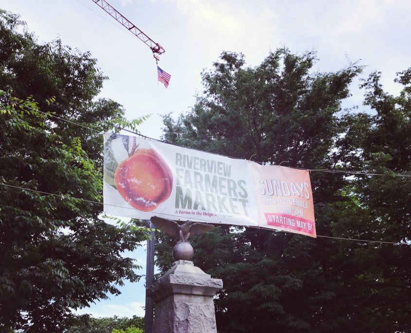 Riverview Farmers Market: Outdoor Mesh Banner