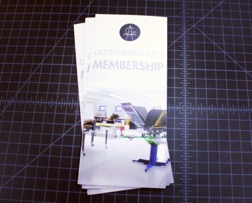 Guttenberg Arts: Membership Trifold Brochure