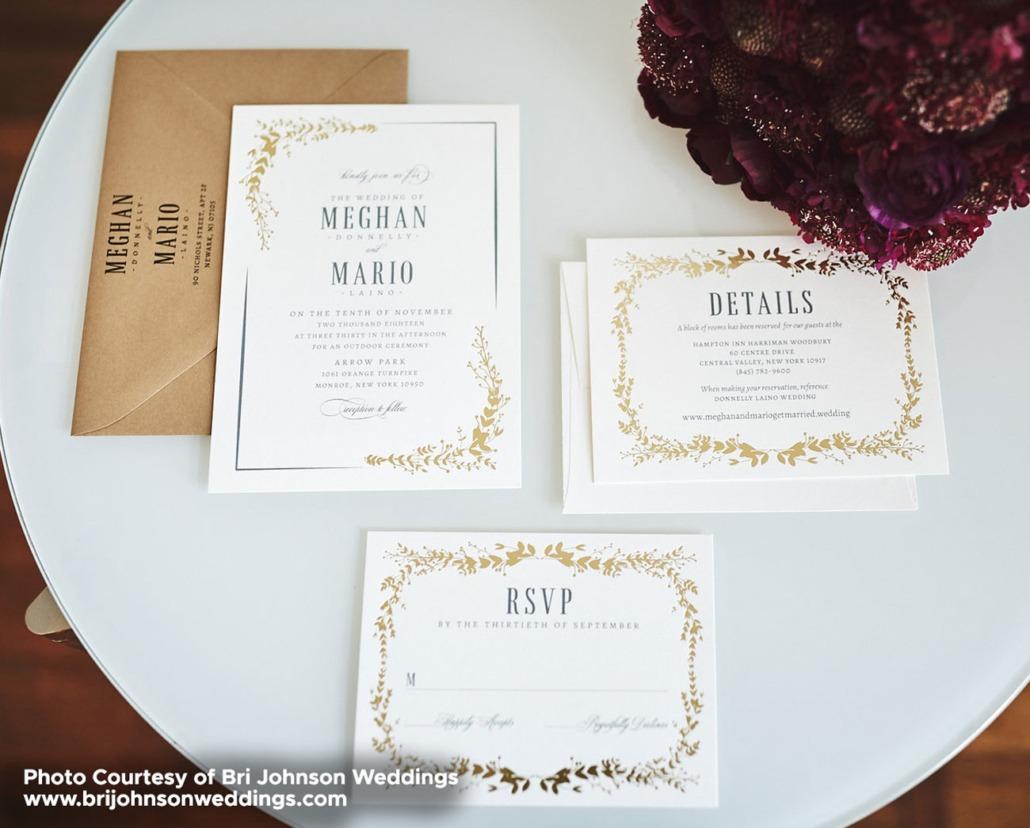 Foil Stamped Wedding Invitations North Bergen Nj
